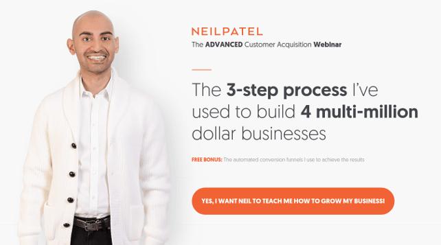 Neil Patel: The Advanced Customer Acquisition Webinar